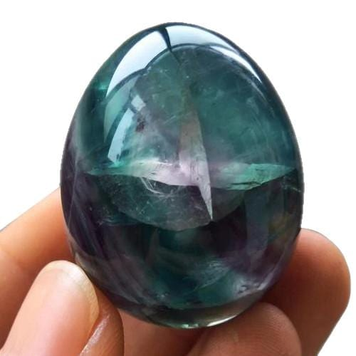 Healing Fluorite Crystal Quartz Gemstone Egg