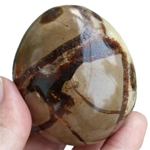 Septarium Crystal Quartz Gemstone Egg