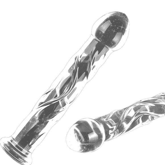 Missile of Masturbation See-Through Glass Dildo