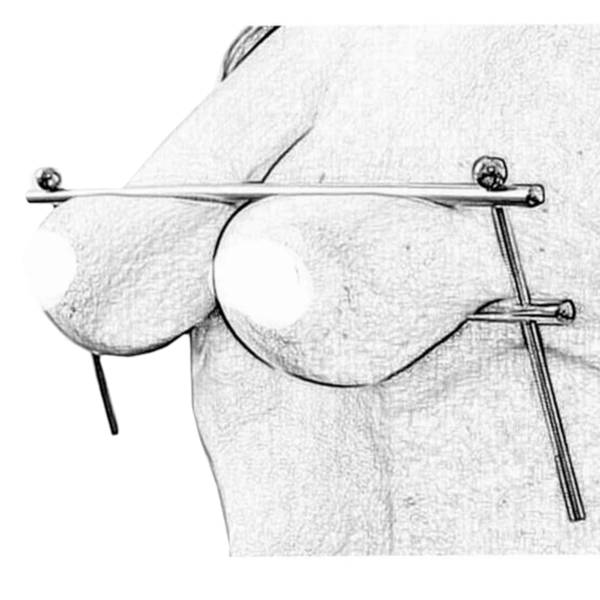 Steel Rod Bondage Nipple Clamp