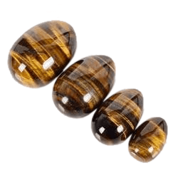 S/M/L/XL Undrilled Natural Tigers Eye Egg