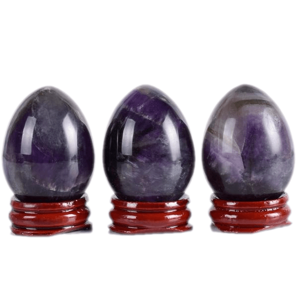 Undrilled Natural Amethyst Extra Large Egg