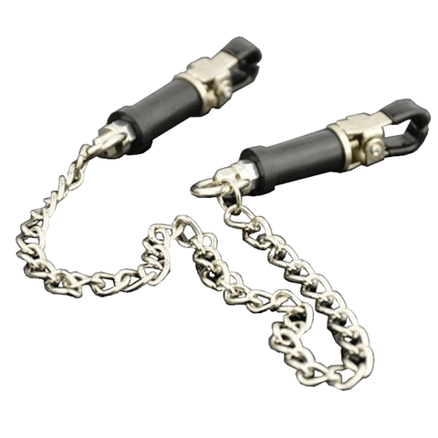 Bondage Fetish Nipple Clamps with Chain