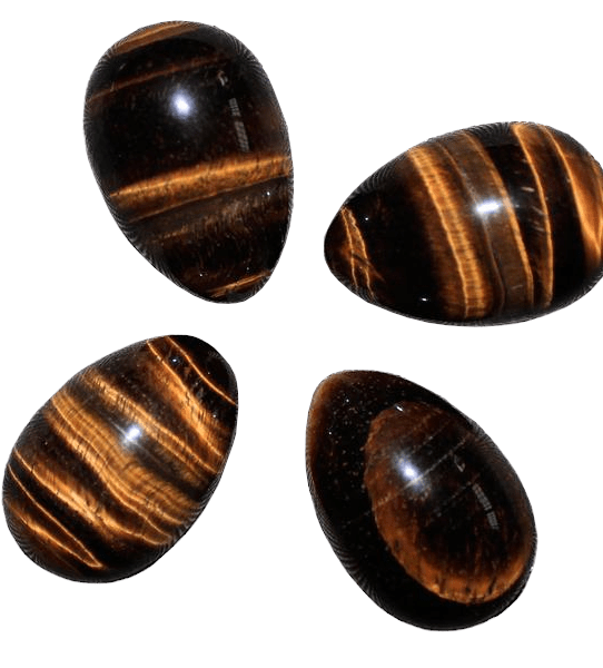 Tigers Eye Yoni Egg | Dark Undrilled Crystal Tigers Eye Egg