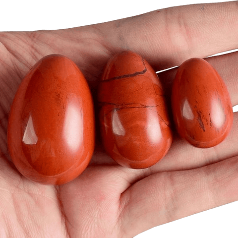 Undrilled Red Jasper Egg 3pcs Set