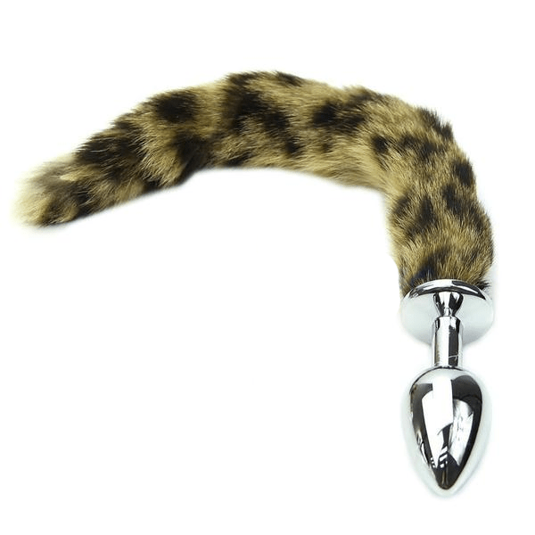 Slim Faux Raccoon Tail Butt Plug 11 Inches Long