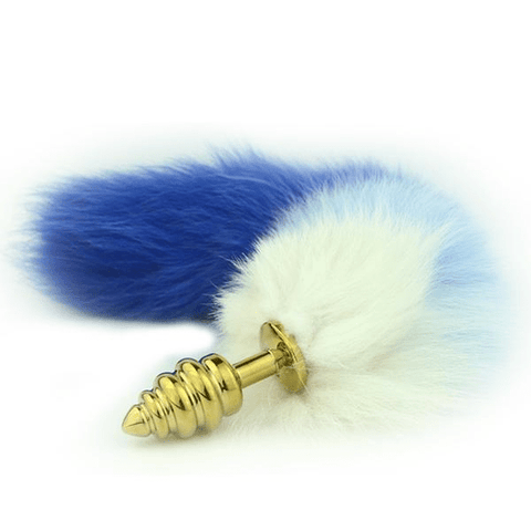 "16"" Blue and White Cat Tail Plug"