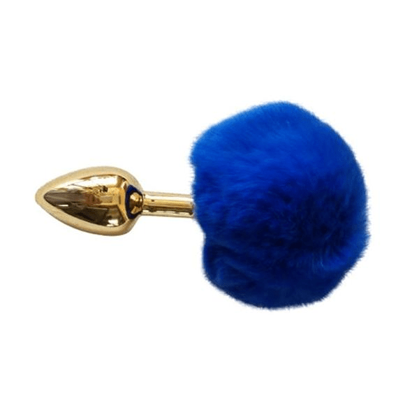 Golden Bunny Tail Butt Plug 6.7 Inches Long