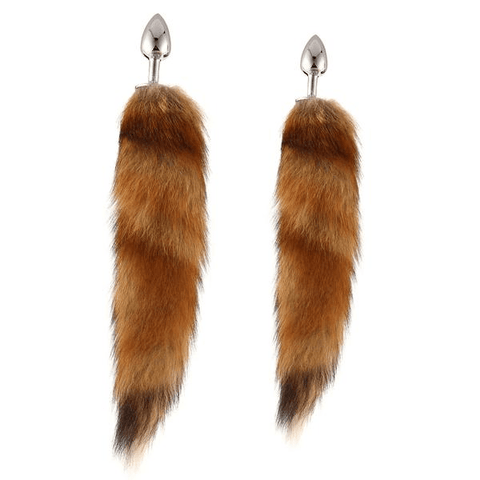"18"" Big Brown Fox Tail Plug"