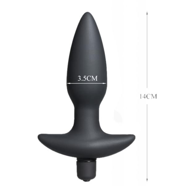 10-speed Knife-shaped Silicone Butt Plug 5.51 inches long