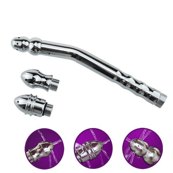 Triple Head Hygienic Injector Steel Shower Enema Set