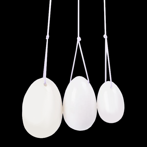 Kegel Exerciser White Jade Egg 3pcs Set