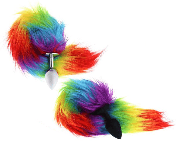 MLP My Little Pony Butt Plug | Rainbow-Colored Tail Butt Plug 16 Inches Long