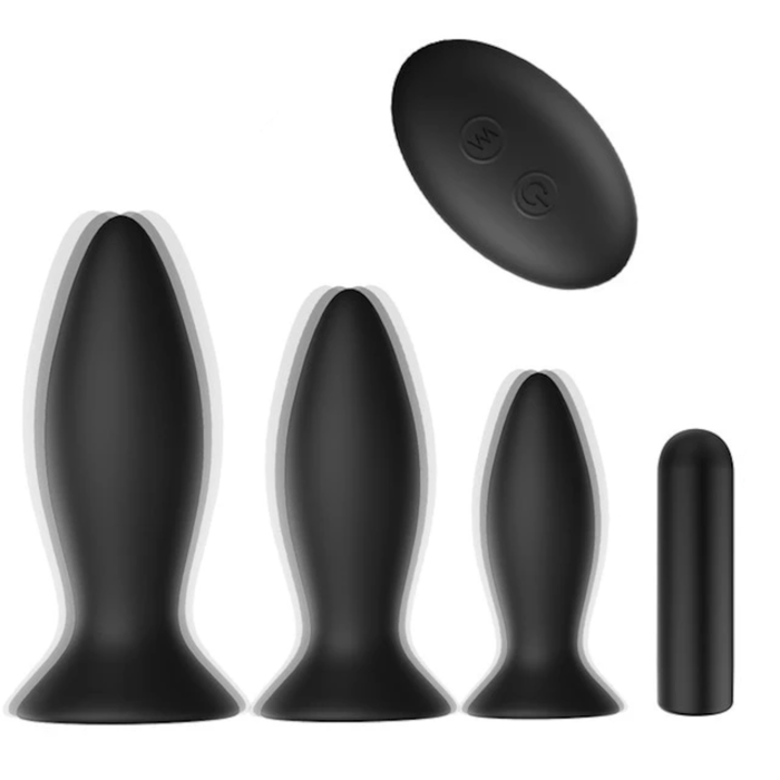 Vibrating Suction Cup Butt Plug 5pcs Set