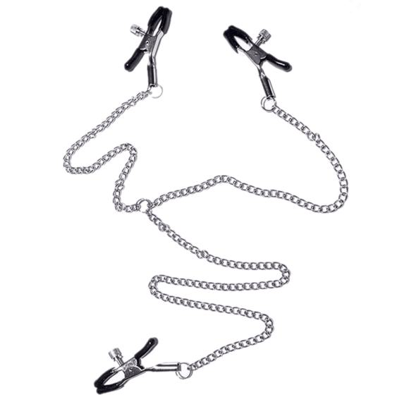 Torture Chain Clit to Nipple Clamp