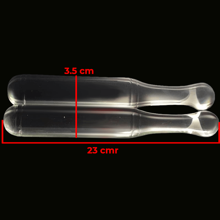 Baseball Bat 9 Inch Glass Double Dildo