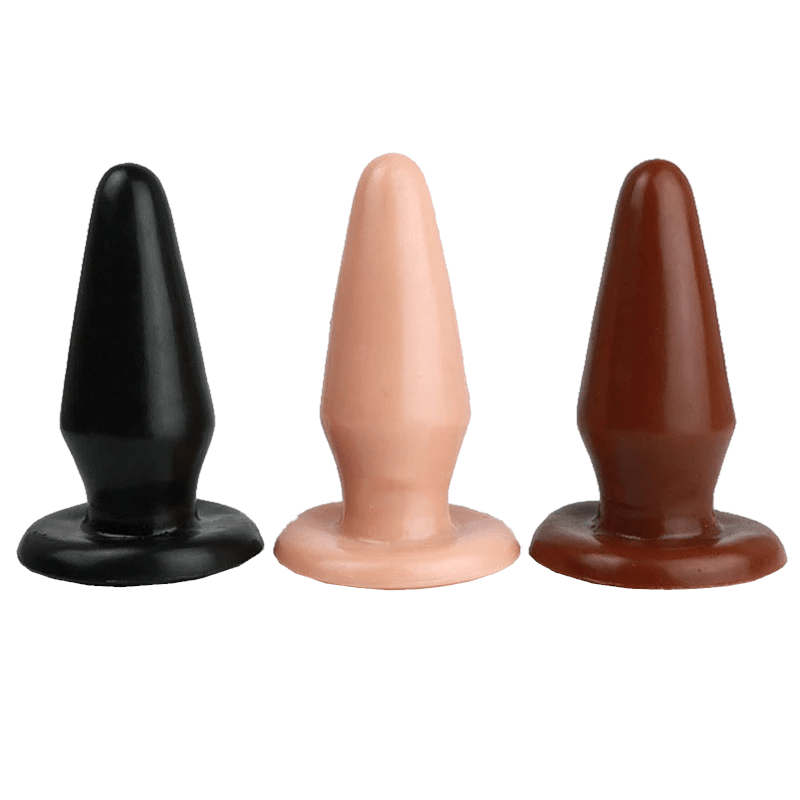 Cone-Shaped Suction Cup Butt Plug 5.12 Inches Long