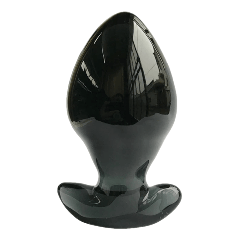 2.5 Inch Wide Butt Plug | Big Black Classic Glass Butt Plug