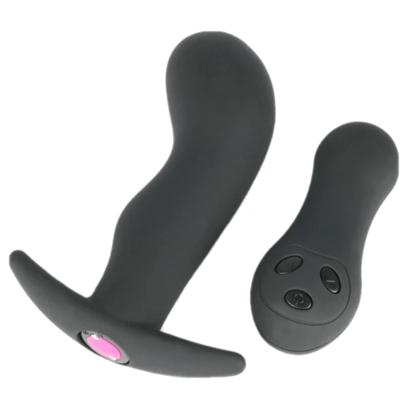 Remote Controlled Silicone Vibrating Butt Plug 4.33 Inches Long