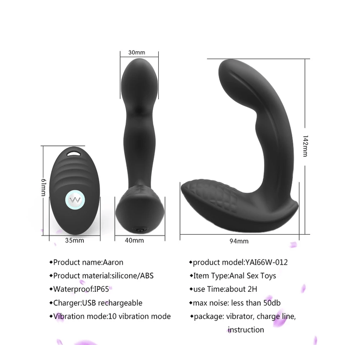 Black Vibrating Joystick Prostate Massager