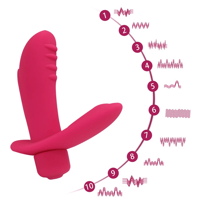 L-Shaped Vibrating Butt Plug 4.72 Inches Long