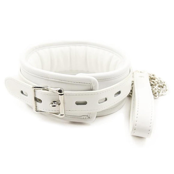 Creamy White Sub Collar With Leash