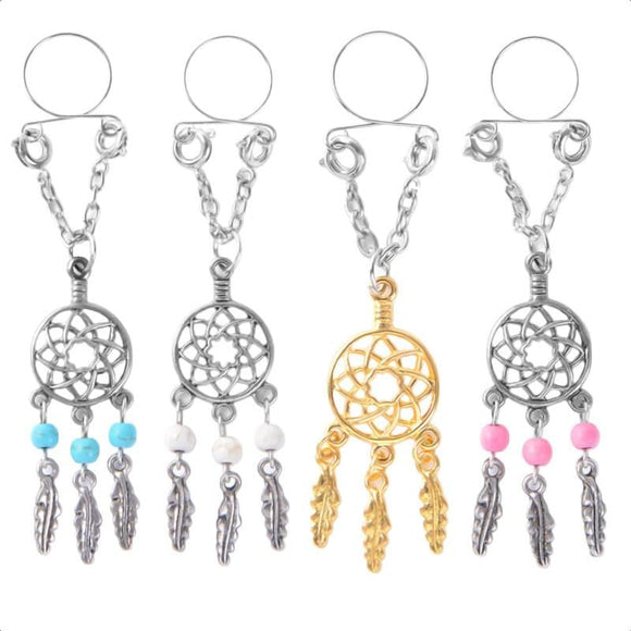 Dreamcatcher Clip on Nipple Clamps