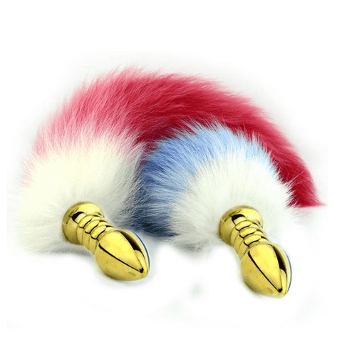"17"" Red/Blue Cat Tail Plug"