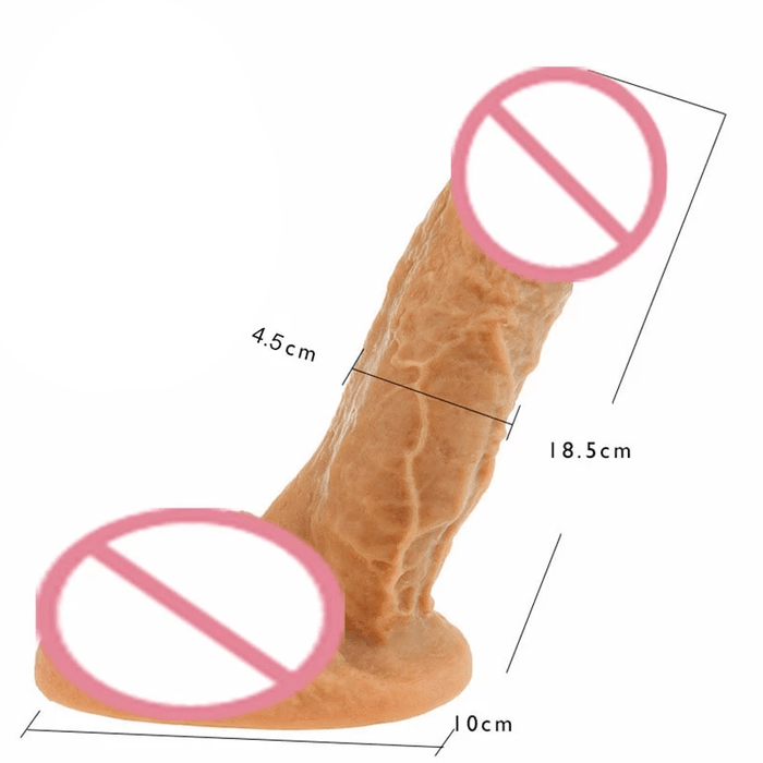 Lifelike Feel Silicone Suction Cup Dildo