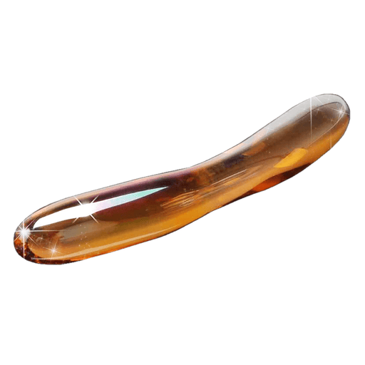 Golden Double Headed Glass Dildo