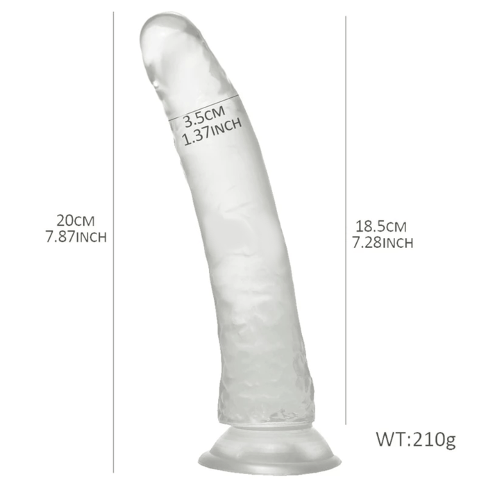 Clear Dildo Realistic Jelly 7 Inch