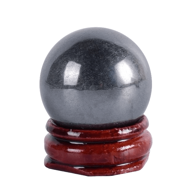 Hematite Yoni Egg | Undrilled Spherical Hematite Crystal Egg