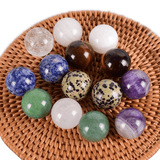 Mixed Crystal Quartz Gemstone Egg 7pcs Set
