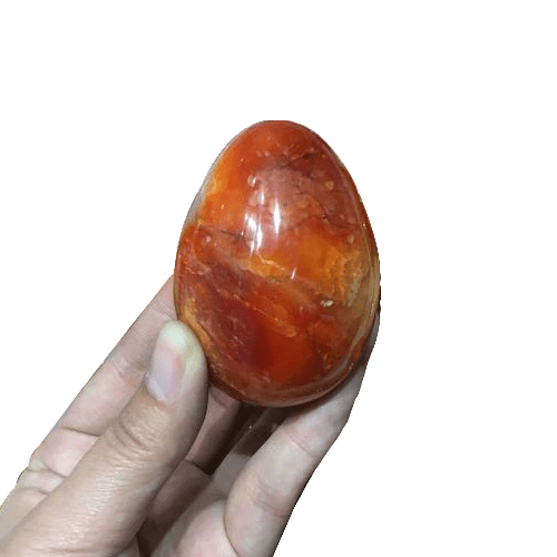 Natural Red Carnelian Crystal Egg