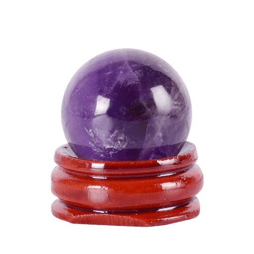 Undrilled Amethyst Ball Crystal Egg