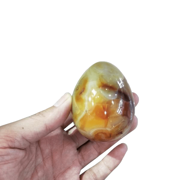Hand-Engraved Extra Large Agate Egg