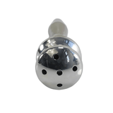 "2.60"" Shower Head Hollow Stainless Steel Penis Plug"