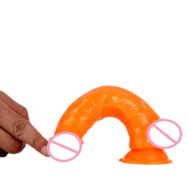 Jelly-Like 6 Inch Dildo With Balls and Suction Cup