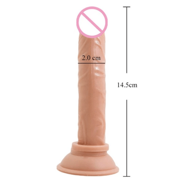 Beginners 5 Inch Long Thin Dildo With Suction Cup