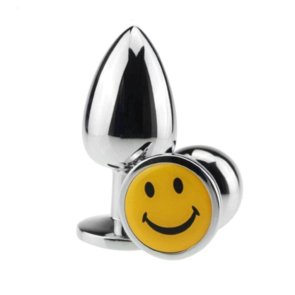 Smiley Stainless Steel Butt Plug 2.76 Inches Long