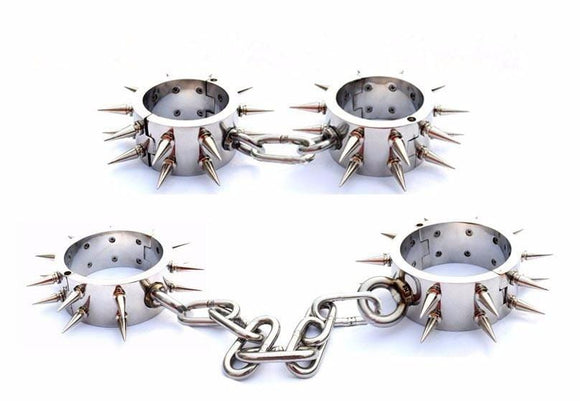 Spiked Heavy Duty BDSM Shackles