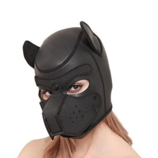 Puppy Pet Play Leather Hood Mask