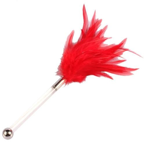Red Flirting Feather Dildo