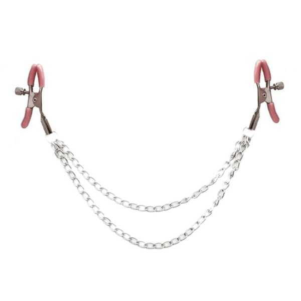 Dual Layer Nipple Clamps with Chain