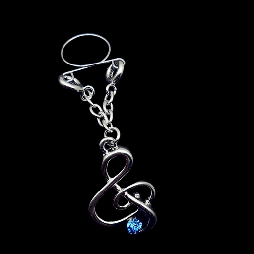 Musical Symbol Clip on Nipple Clamps