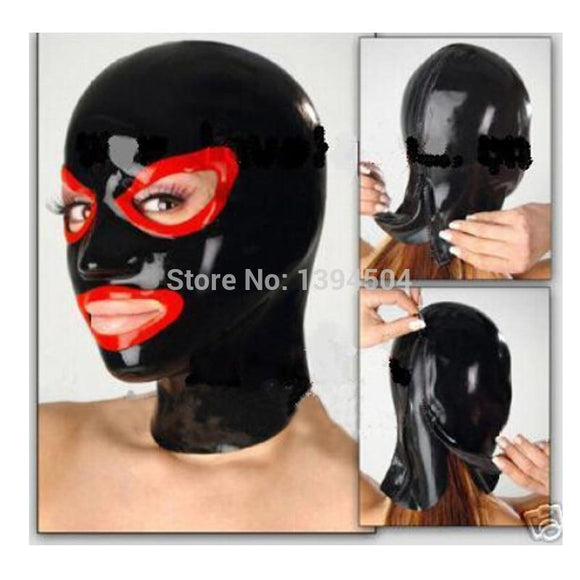 Wicked Domme's Black Latex Mask