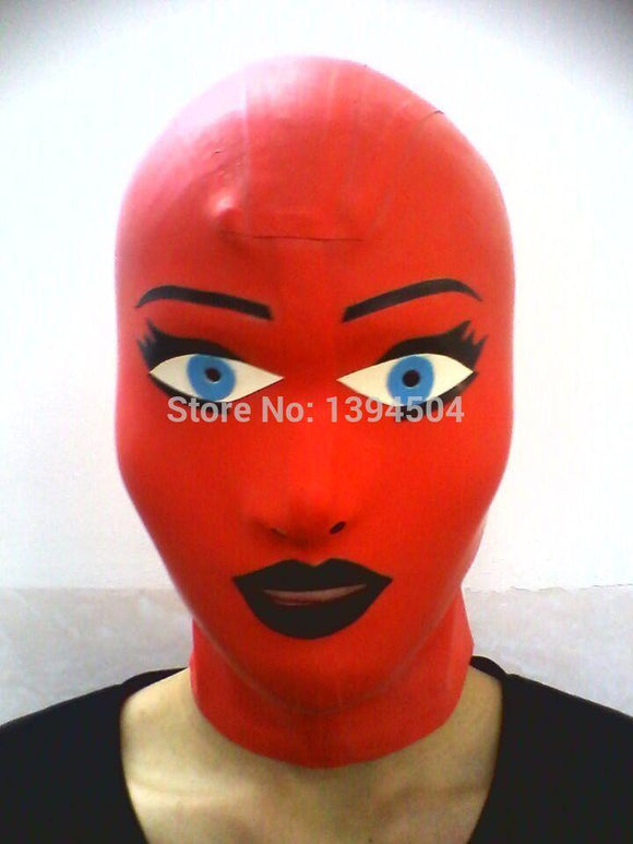 Submission Play Latex Doll Mask
