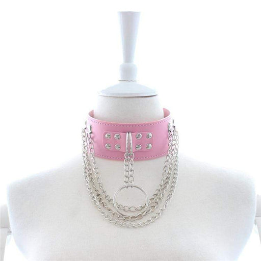Pretty in Pink Permanent Locking Collar