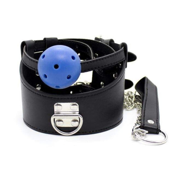 Open Mouth Gag Punishment Collar