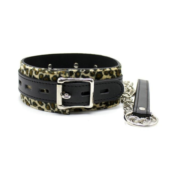 Leopard Print Kitten Play Collar